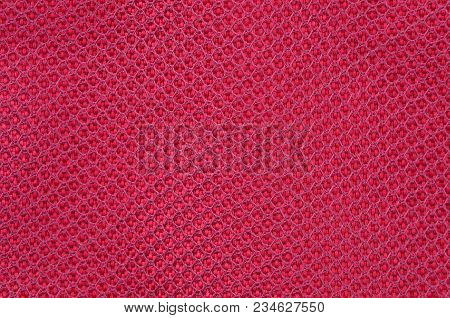 Close Up Of Red Textured Synthetical Background
