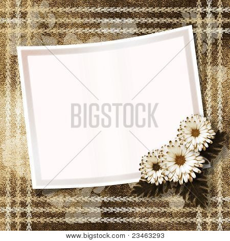 Old Paper With Chrysanthemum On The Abstract Background