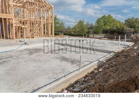 Slab On Grade Foundation Concrete For Timber Frame House In Usa