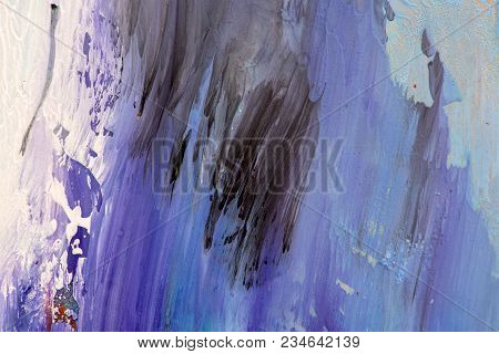 Hand Drawn Gouache Painting. Abstract Art Background. Color Texture.