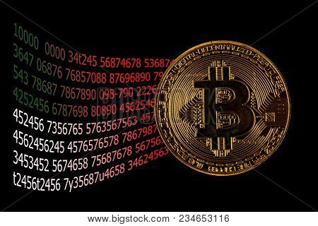 Screen Display Of Cryptocurrency Mining Dual Mining Gold Bitcoin Cryptocurrency Mining By Using The