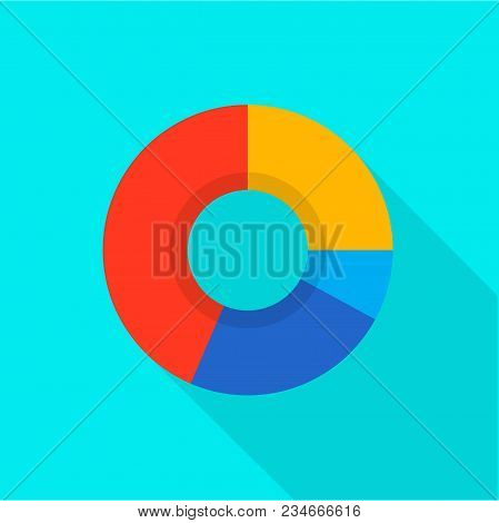 Economic Diagram Icon. Flat Illustration Of Economic Diagram Vector Icon For Web
