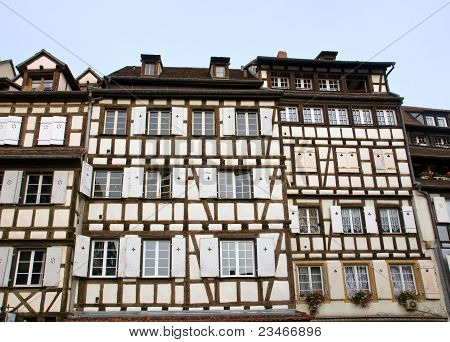 Typical half timbered houses