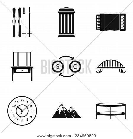 Luxury Dwelling Icons Set. Simple Set Of 9 Luxury Dwelling Vector Icons For Web Isolated On White Ba