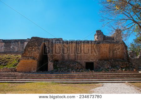 Majestic Ruins In Uxmal, Mexico. Uxmal Is An Ancient Maya City Of The Classical Period In Present-da