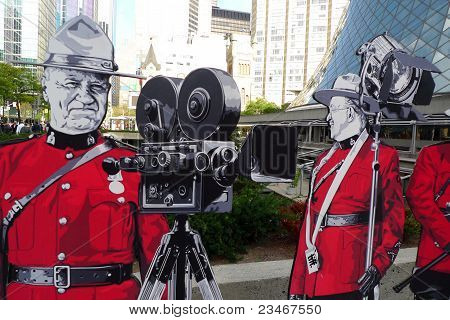 Toronto Film Festival art installation and Roy Thomson Hall