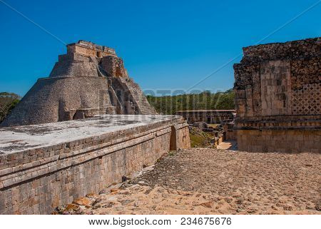 Ruins Of Uxmal, An Ancient Maya City Of The Classical Period. One Of The Most Important Archaeologic
