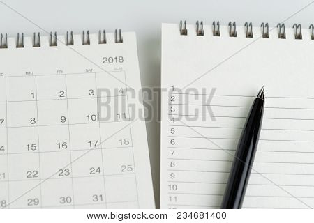 To Do List Or Work Task Priority List With Date Concept, Black Pen On Notepad With List Of Numbers W