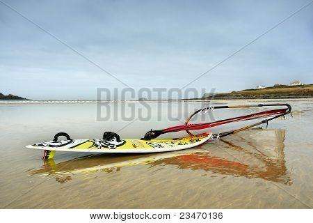 Wind Surfer On Daymer Bay