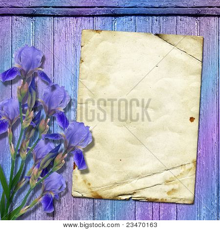 Framework For Greeting Or Invitation. The Grunge Wooden Background.