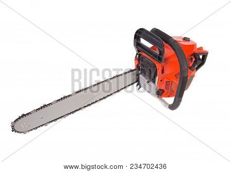 New Chainsaw  Saw It Is Isolated On The White