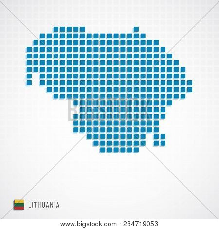 Lithuania Map And Flag Icon