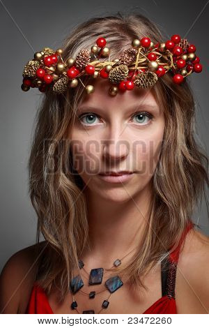 Woman With Xmas Crown