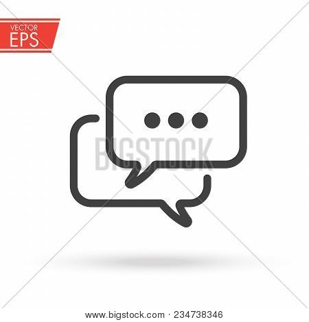 Chat Communication Bubble Vector Icon. Sms Symbol For Your Web Site Design, Logo, App, Ui. Vector Il
