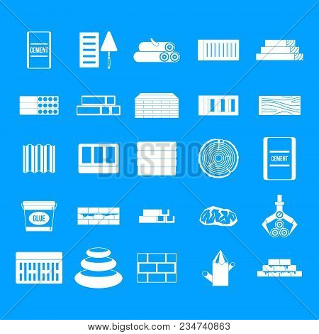 Construction Materials Icon Set. Simple Set Of Construction Materials Vector Icons For Web Design Is