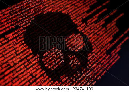 Computer Code And System Attacks. Conceptual Online Security Background
