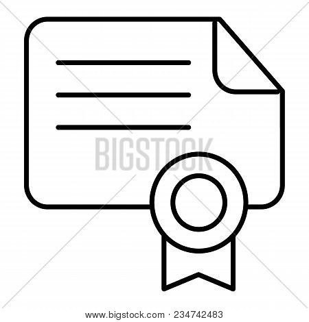Diploma Vector Icon Suitable For Info Graphics, Websites And Print Media And Interfaces. Certificate