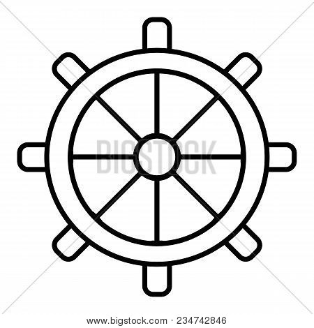 Wheel Of Ship Icon. Outline Wheel Of Ship Vector Icon For Web Design Isolated On White Background. E
