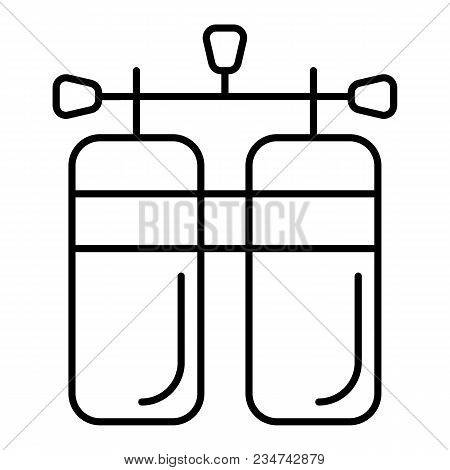 Air Tanks Diving Kit Outline Icon. Linear Style Sign For Mobile Concept And Web Design. Diving Cylin