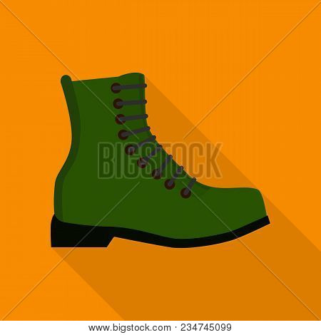 Comfortable Boot Icon. Flat Illustration Of Comfortable Boot Vector Icon For Web