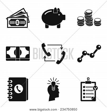 Trading Floor Icons Set. Simple Set Of 9 Trading Floor Vector Icons For Web Isolated On White Backgr