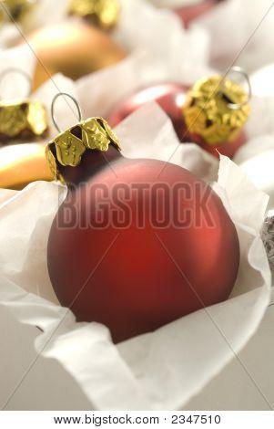 Bola de Navidad en caja