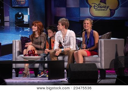 LOS ANGELES - AUG 21:  Bella Thorne, Davis Cleveland, Kenton Duty, Caroline Sunshine at the D23 Expo 2011 at the Anaheim Convention Center on August 21, 2011 in Anaheim, CA