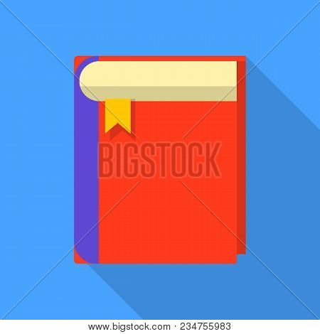 Thick Book Icon. Flat Illustration Of Thick Book Vector Icon For Web