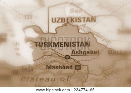 Turkmenistan, Formerly Known As Turkmenia (sepia Selective Focus).