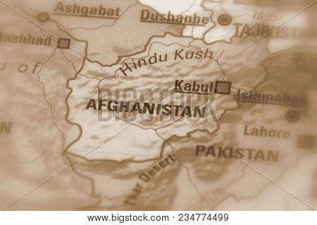 Afghanistan, Officially The Islamic Republic Of Afghanistan (sepia Selective Focus).