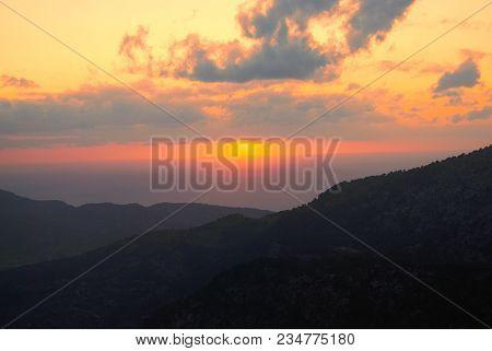 Sunset In Serra De  Tramuntana, Palma, Majorca 2