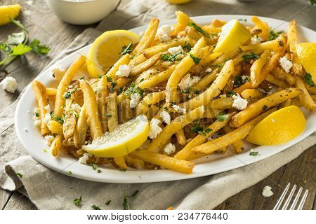 Homemade Greek Feta And Parsley Fries