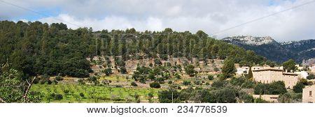 Bunyola Village Landscape 3, In Majorca, Balearic Islands, Spain
