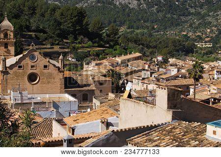 Bunyola Village Landscape 1, Majorca, Balearic Islands, Majorca, Spain