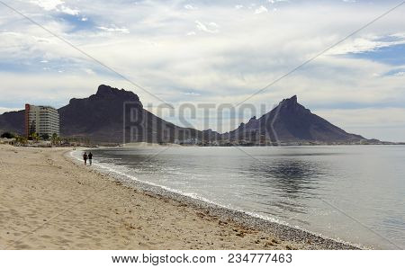 A Los Algodones Catch 22 Beach And Tetakawi Mountain Shot In San Carlos, Guaymas, Sonora, Mexico