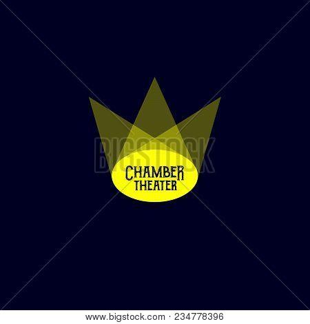 Theater Logo. Scene Or Circus Logo. Drama School. The Light And The Scene Logo.