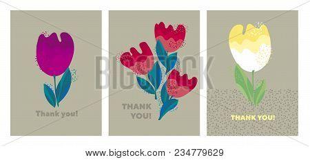 Decorative Cute Bright Tulip Flower. Stock Vector Illustration. Abstract Floral Decorative Design El