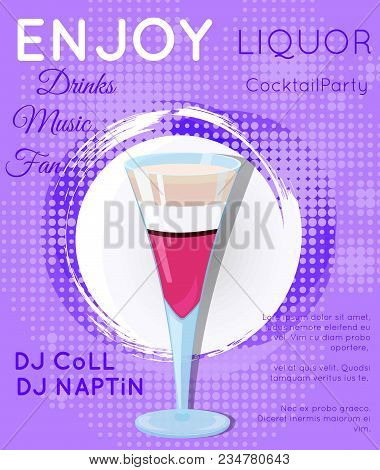 Cocktail Illustration On Bright Contemporary Background
