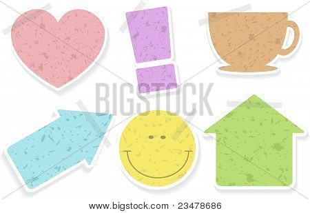 Stickers for home using, vector illustration