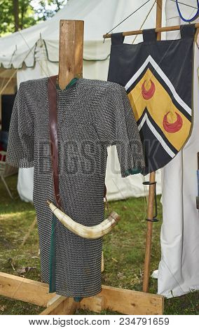 12th Century Armor And Chain Mail On Display