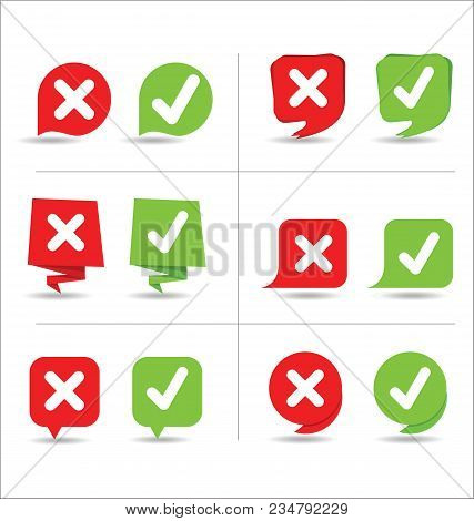 Yes And No Sign Vector Illustration Background