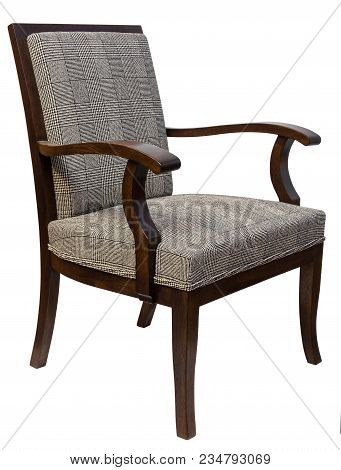 Vintage Art Deco Antique Chairs Isolated On White Background