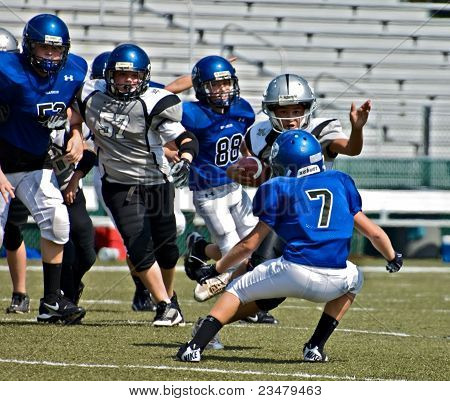 Little League Football Runner Blocked