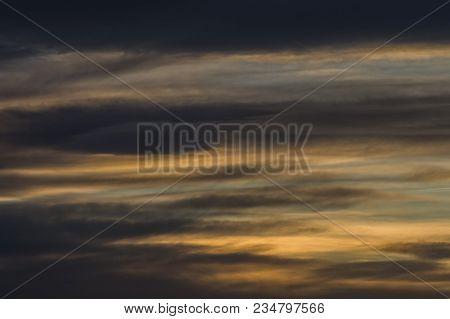 Dark Blue, White And Grey Cloudy Sky