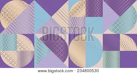 Elegant Luxury Geometric Pattern. Abstract Stock Vector Illustration. Pastel Spring Color Light Colo