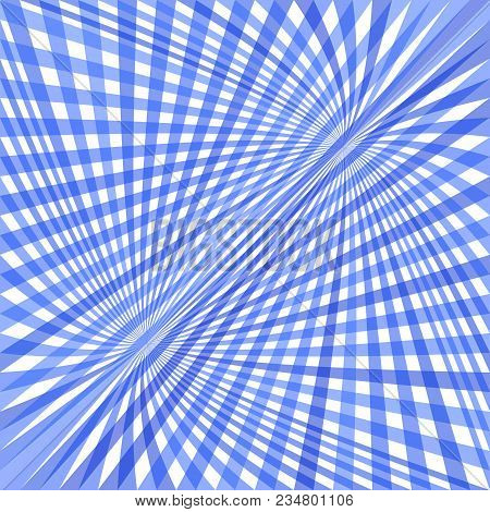 Abstract Dynamic Curved Background - Vector Illustration From Striped Rays In Blue Tones