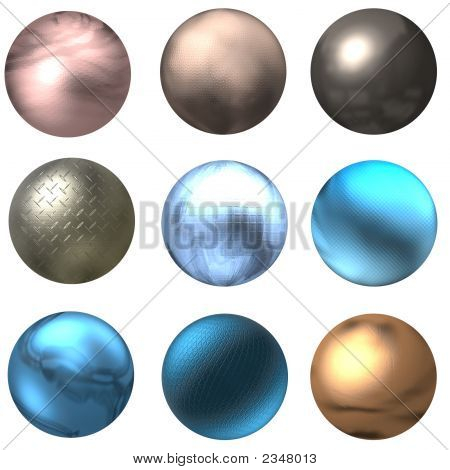 Shiny Web Buttons Or Balls