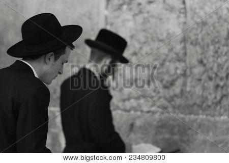 Western Wall, Jerusalem, Israel, 03.04.2015 ,western Wall Jerusalem Is Also Called The Wailing Wall
