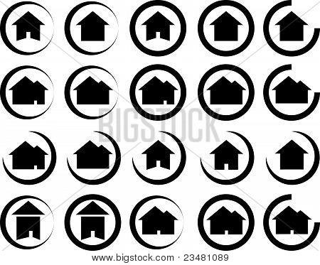 Real Estate / House Symbols - Vector Illustration