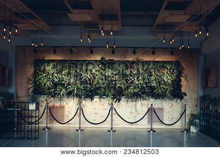 Interior Design Of Modern Hotel Lobby. Shopping Center Hall. Business Center Hallway Decorated With